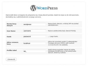 Konfiguracja WordPress