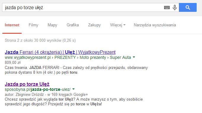 Dynamiczny tytuł strony w wyszukiwarce Google